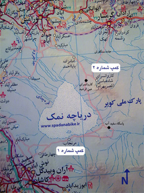 نقشه ی کویر مرنجاب
