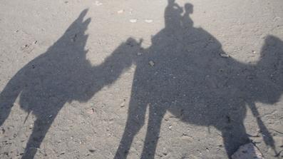 سروش طلیعی و بابا در کویر مرنجاب/ 930106ـ عکس اختصاصی